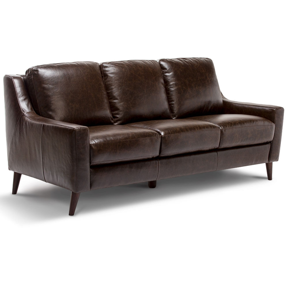sofa cuero sellwood chocolate rosen chile